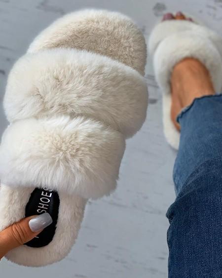 Fluffy Toe Post Casual Slipper