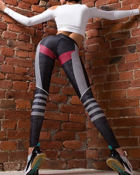 Color Block Skinny High Waist Yoga Pants