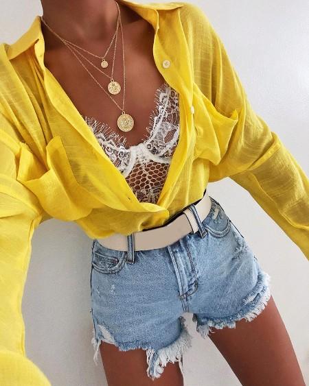 Pocket Design Buttoned Casual Shirt