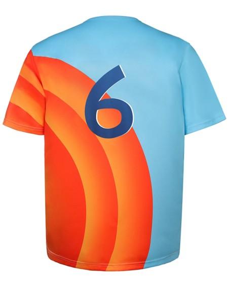 Color Block Splicing Letter Print Short Sleeve T-shirt