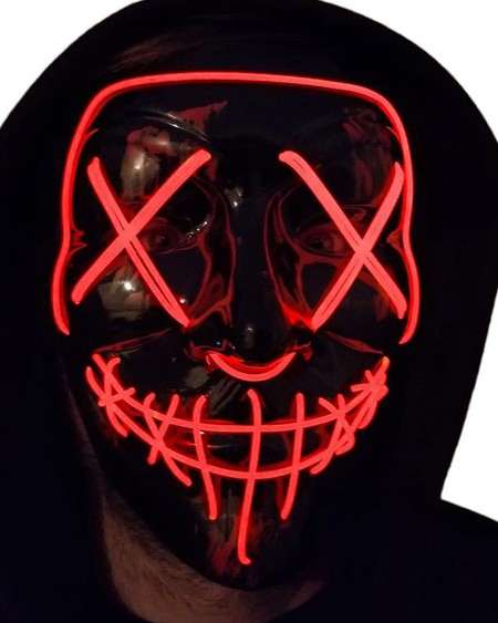 Scary Halloween Mask LED Light up Mask Cosplay Glowing in The Dark Mask Costume Halloween Face Masks