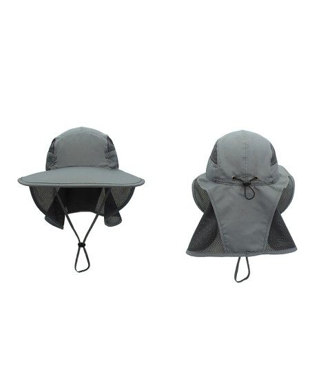 Outdoor Sun Protection Hats Windproof Breathable Removable Face Neck Visors Cover Flap Folding Sun Hat