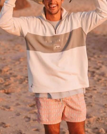 Long Sleeve Patchwork Zipper Sweatshirt