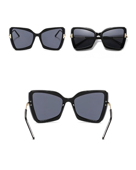1Pair Oversized Frame Square T Sunglasses