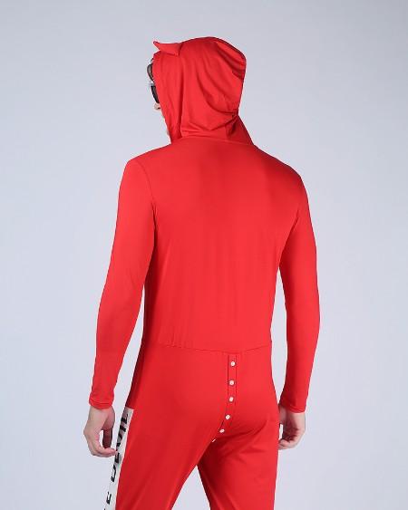 Devil Long Sleeve Button-dwon Loose Jumpsuit