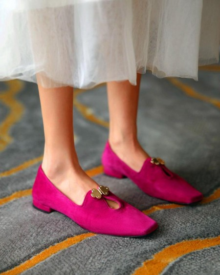 Suede Square Toes Loafers Slip-on