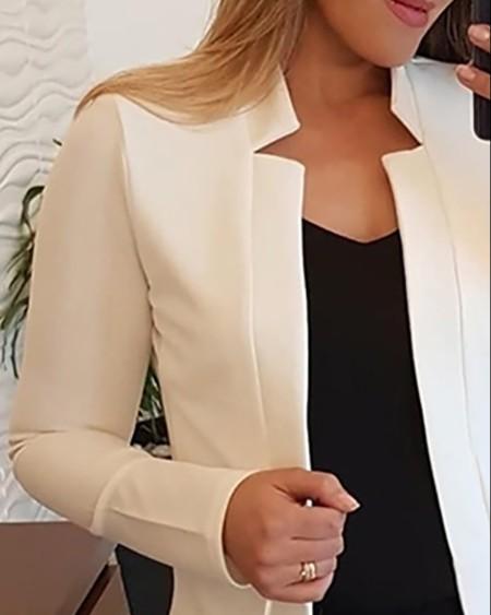 Cutout Design Long Sleeve Blazer Coat