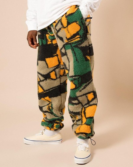 Abstract Patterns Print Loose Pants