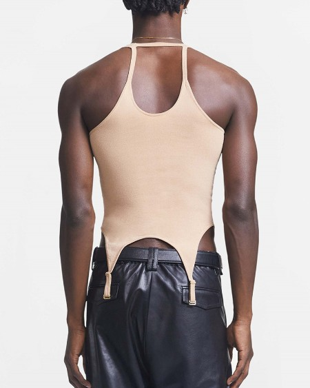 Solid Color Cut-out Sling Skinny Tank Top