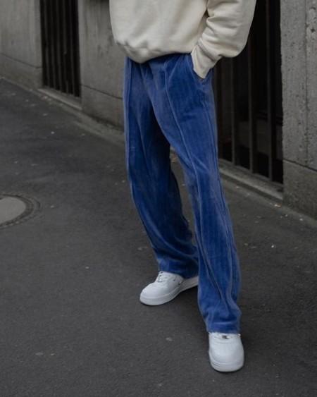 Solid Color Velvet Straight Pants