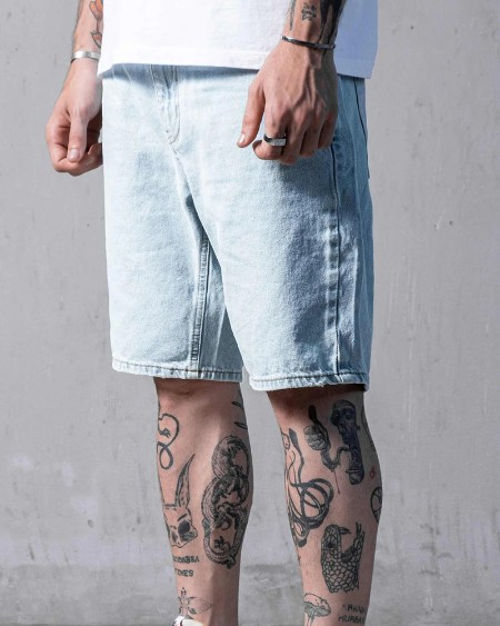 Loose Solid Color Denim Short Pants