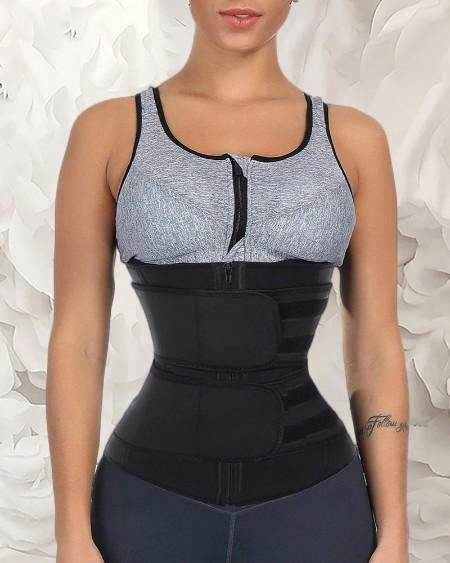 Solid Waist Trainer Corset Neoprene Sweat Belt Tummy Slimming Sport Shapewear Breathable Belly Fitness Modeling Strap Shaper