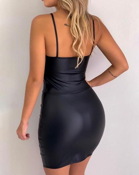 Cutout Waist Ruched Bodycon Dress