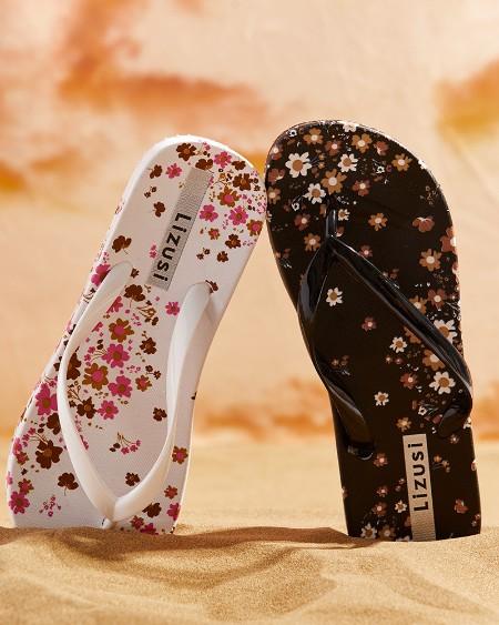 Floral Print Casual Flip Flops