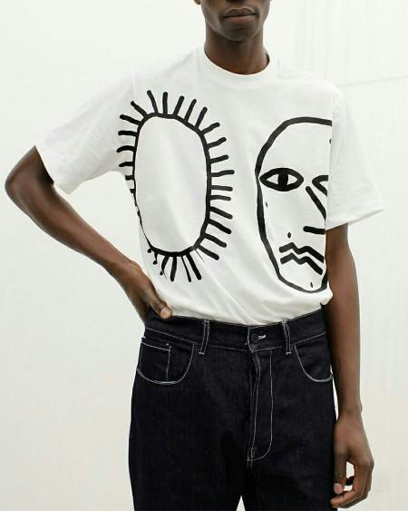 Abstract Print Short Sleeve T-shirt