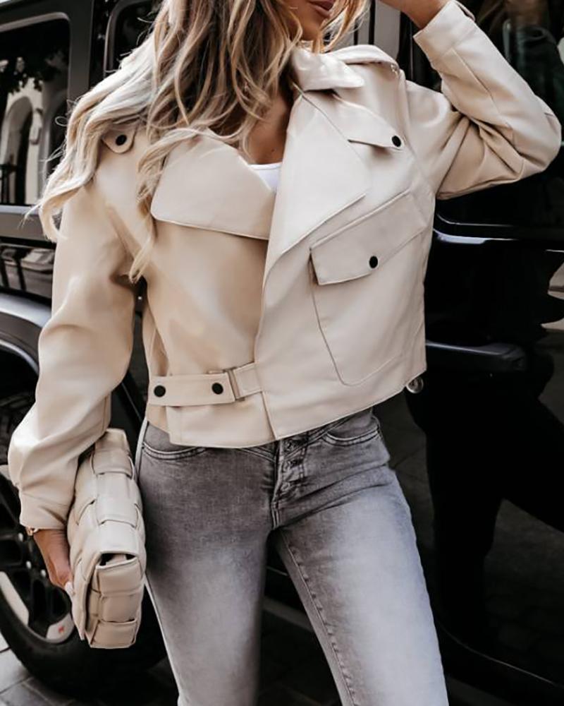 Pocket Zipper Design Long Sleeve Jacket thumbnail