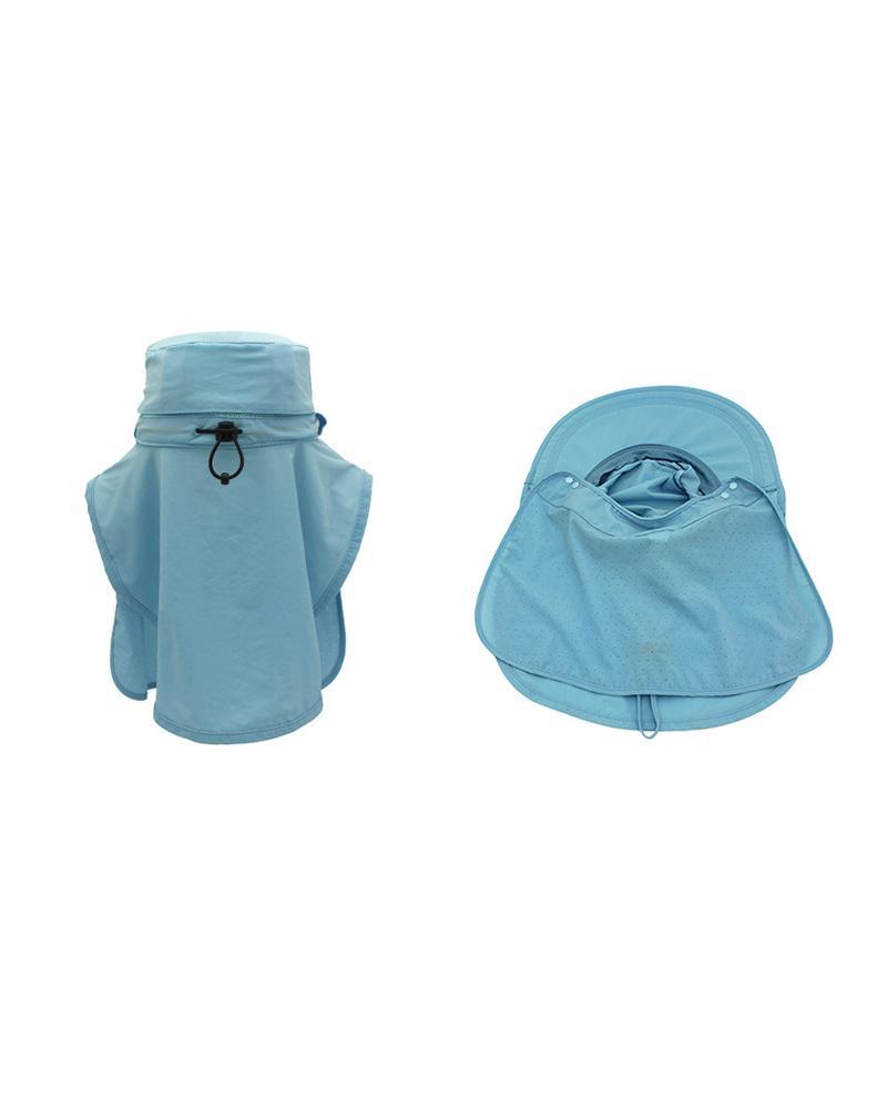 Sun Cap Finshing Hats UPF+50 Detachable Face & Neck Flap Visor Wide Brim UV Sun Protection Hiking Hats