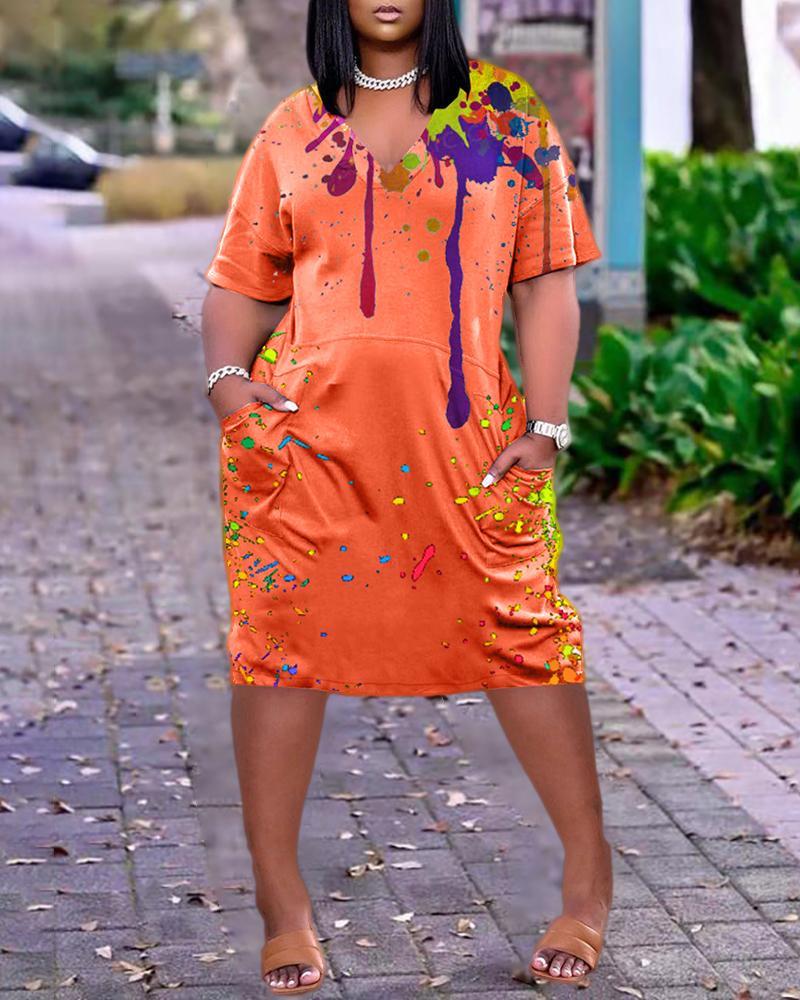 Robe décontractée à manches courtes et à manches courtes