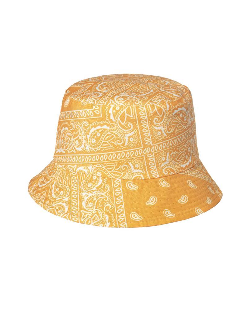 Paisley Print Bucket Hat Outdoor Sun UV Protection Casual Fishing Cap