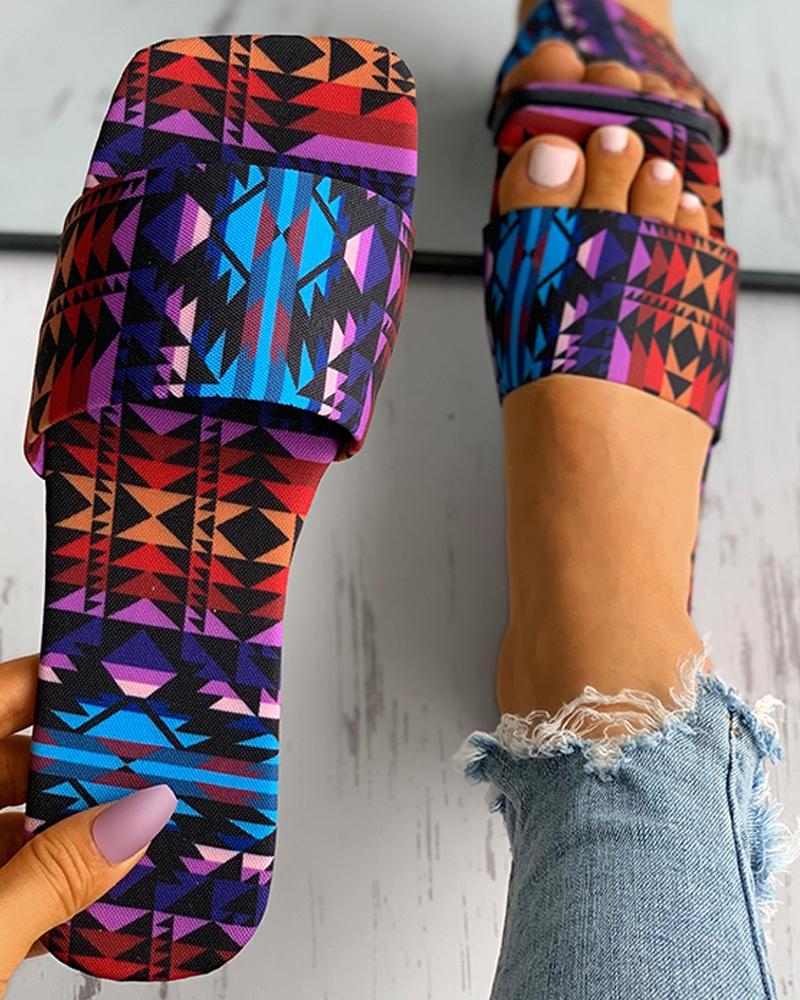 Sunflower / Zebra Stripe / Colorblock / Cheetah Print Slipper