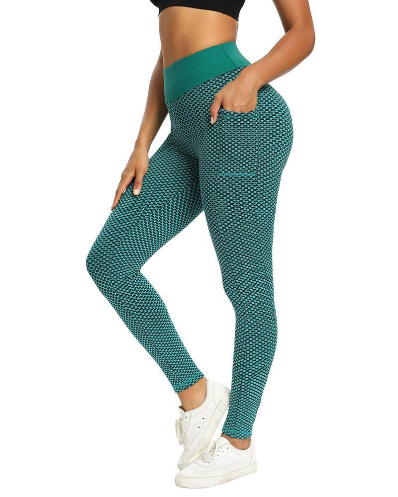High Waist Fishnet Skinny Yoga Pants