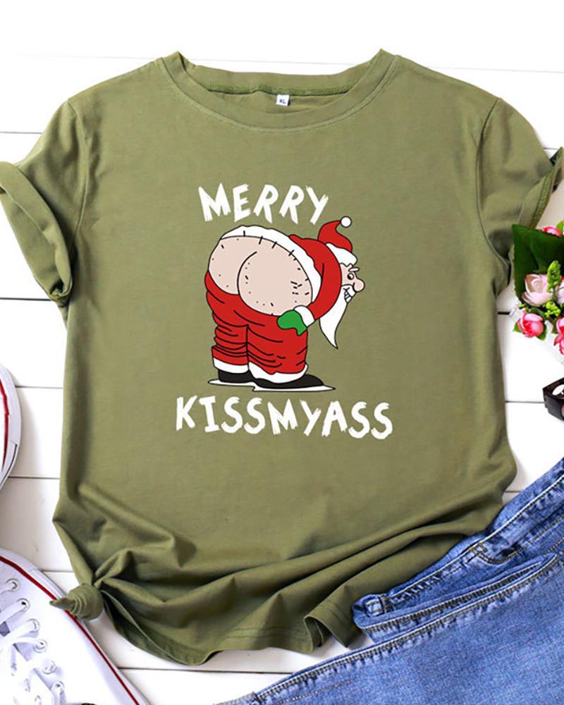 Christmas Short Sleeve Casual T-Shirt thumbnail