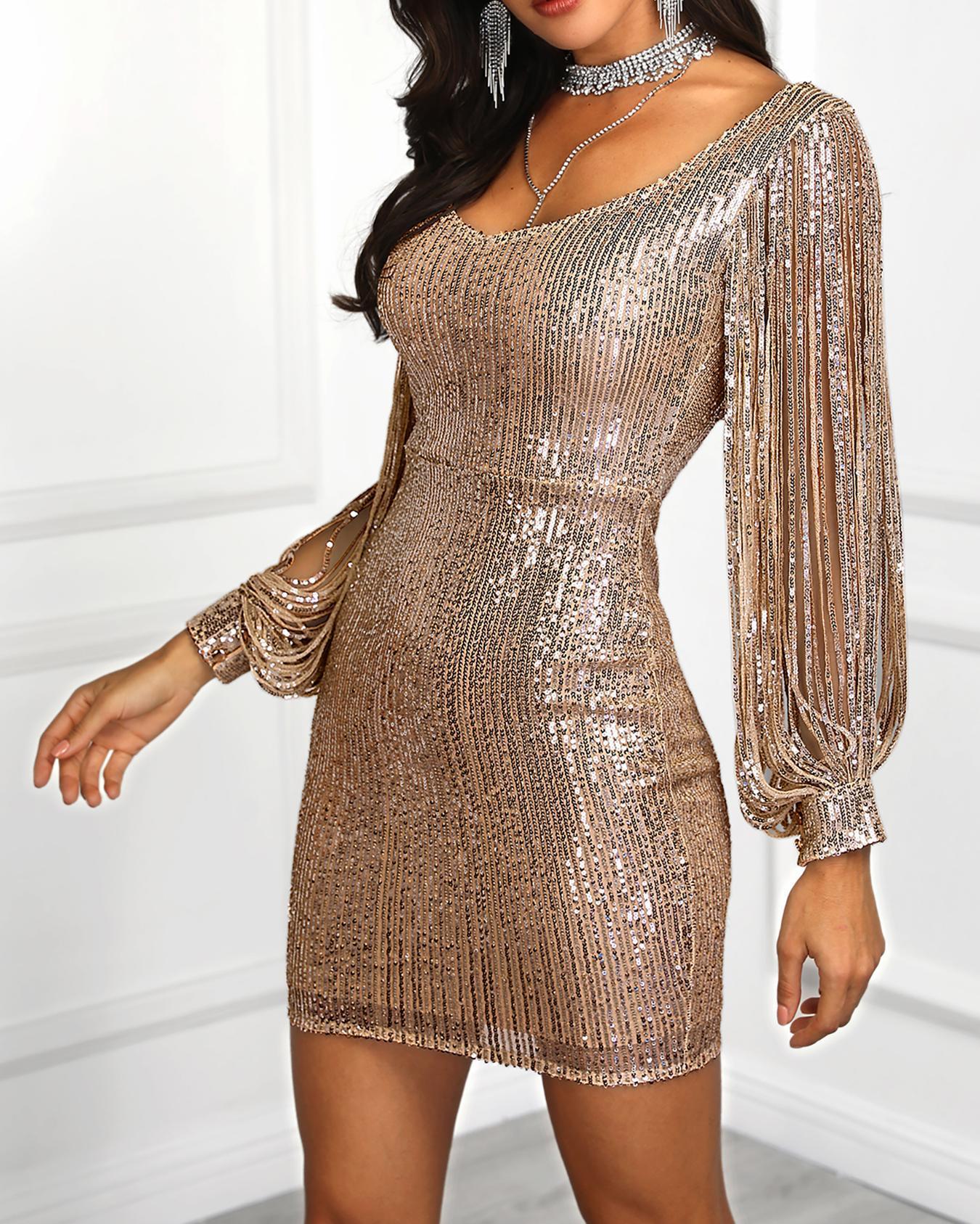 Платье С Блестящей Нитью
