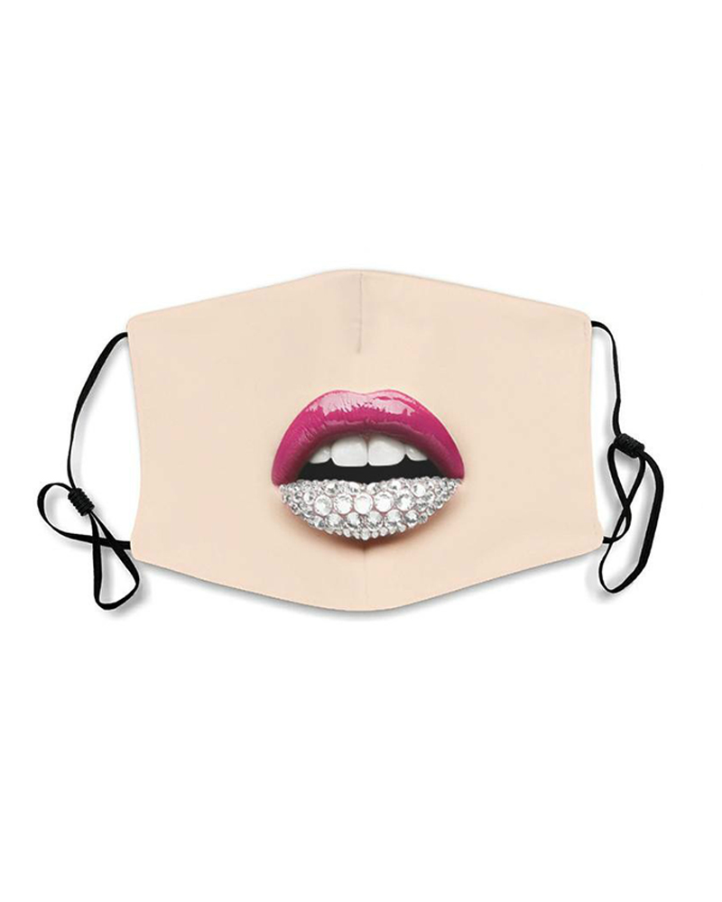 Lips Expression Breathable Face Mask