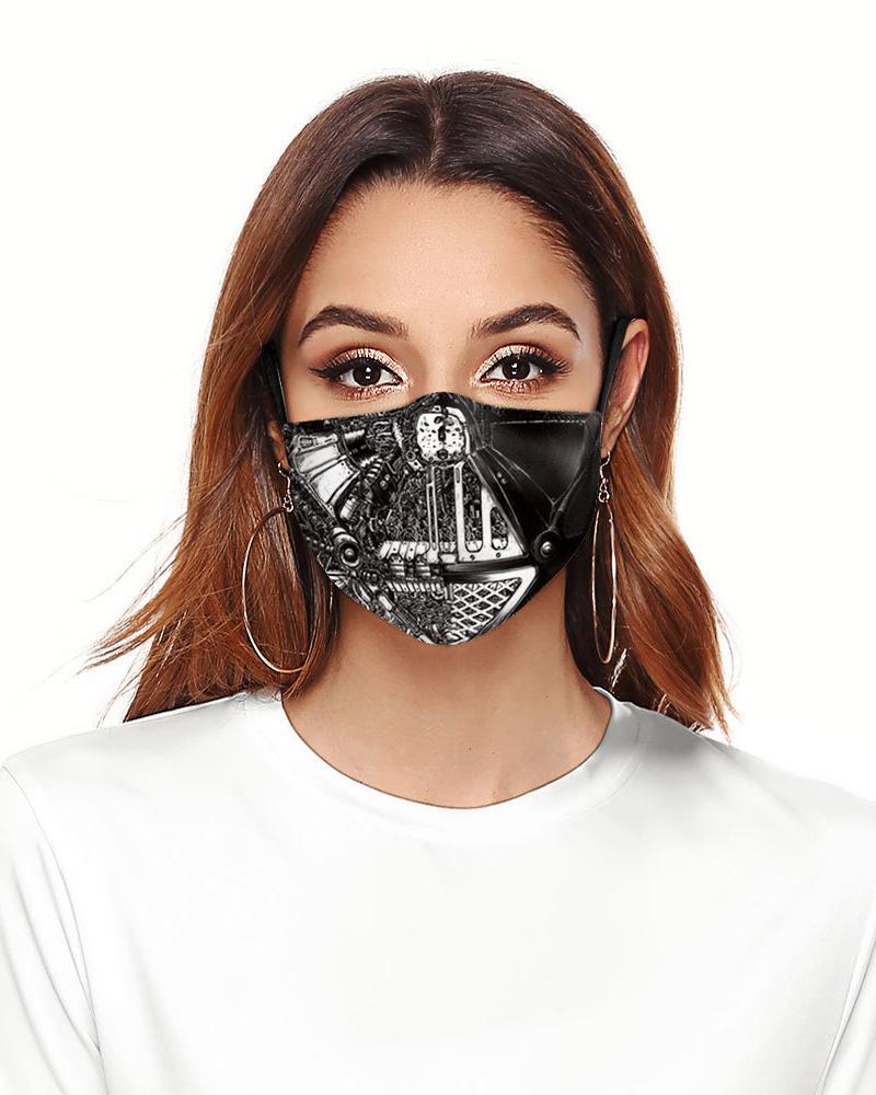 Cartoon Print Colorblock Breathable Face Mask