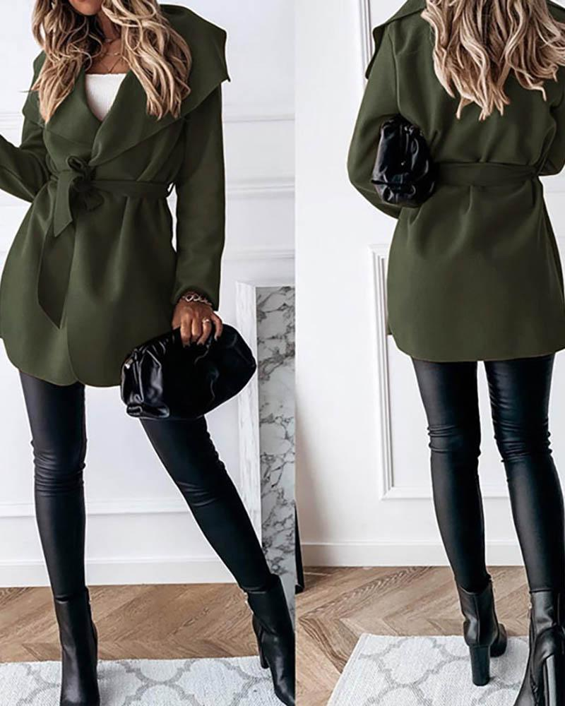 Long Sleeve Solid Casual Cardigan