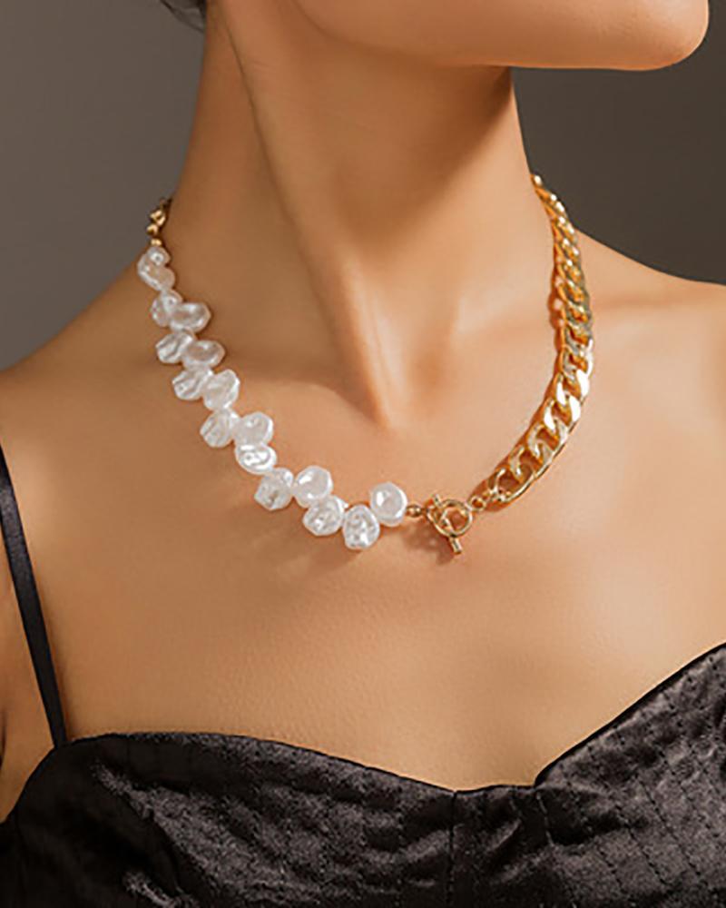 1PCS Beaded Decor Chain Necklace