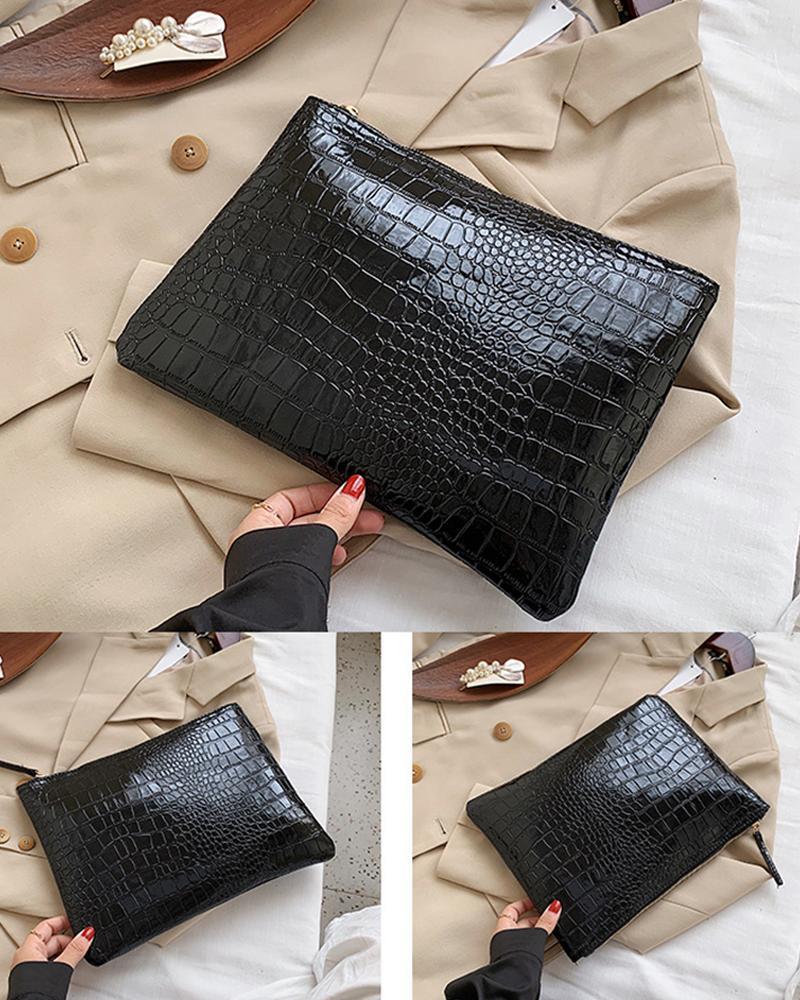 Ivrose coupon: Croc Embossed Clutch Bag