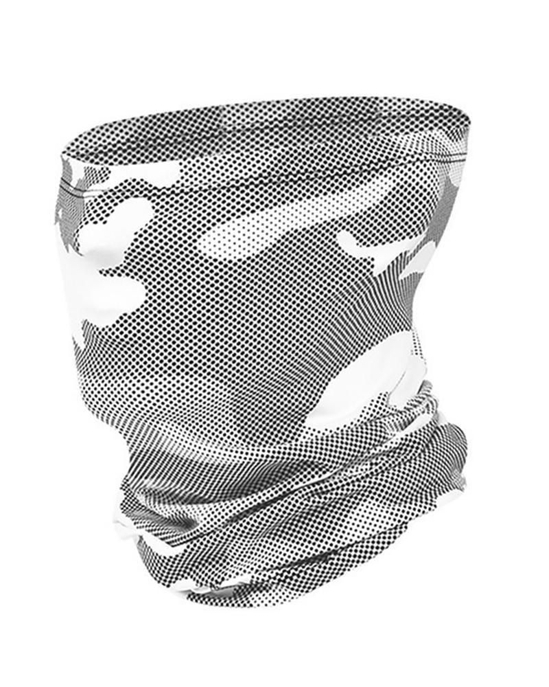 Bandeau de tête respirant à imprimé camouflage