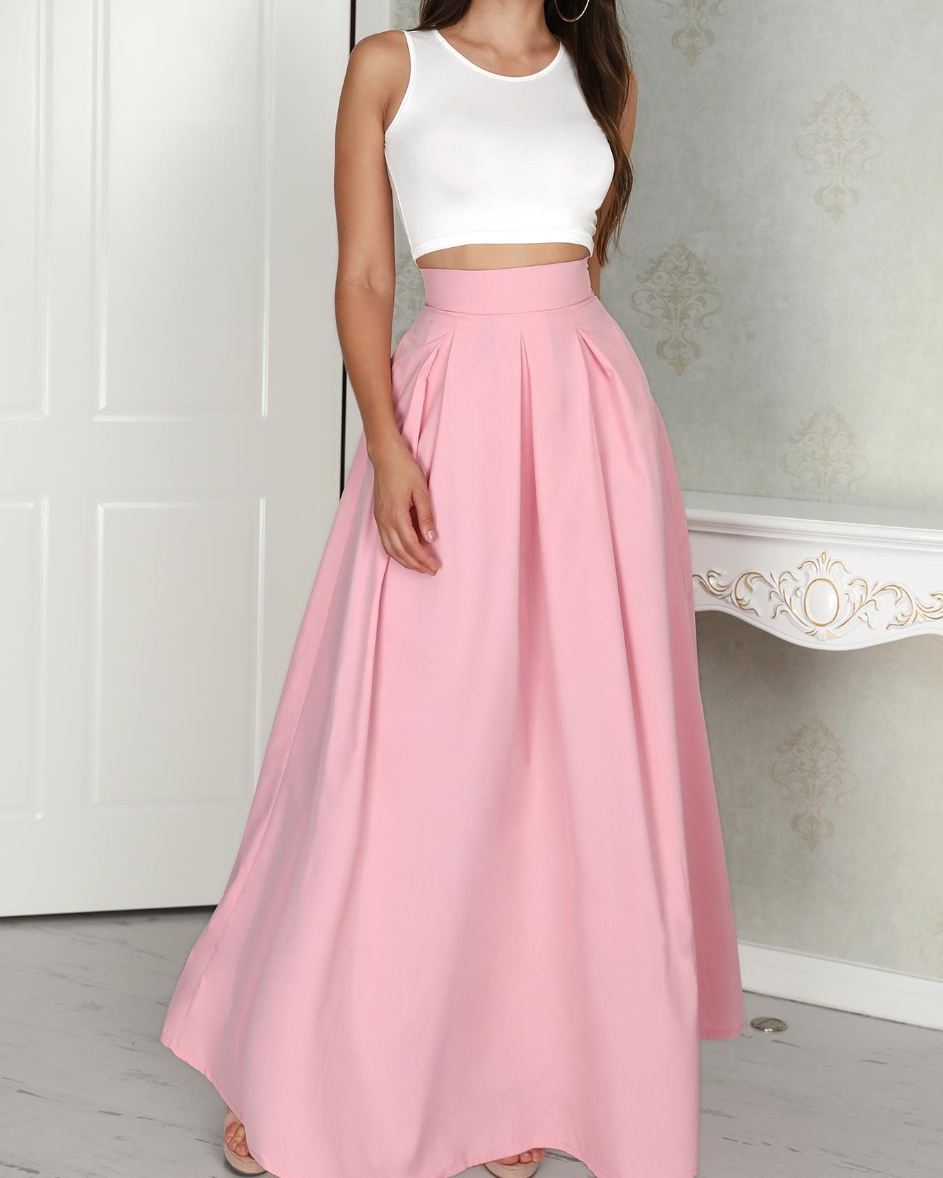 2 Pc Sleeveless Blouse and Culotte Skirt Set