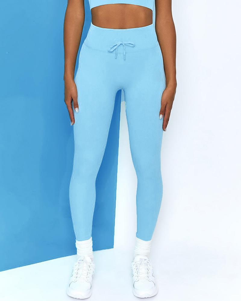 Drawstring Skinny Yoga Pants