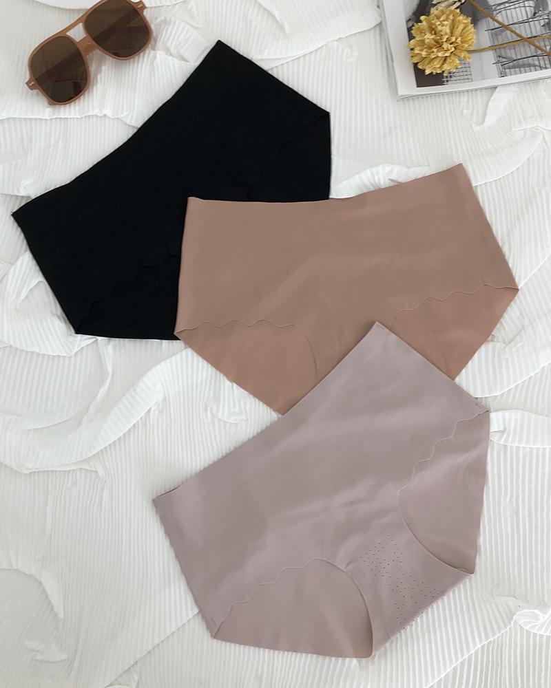 3PCS/Set Breathable 3D Ice Silk Ultra-Thin Seamless Panty