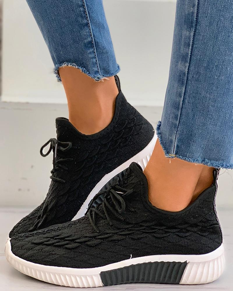 Knit Lace-up Casual Sneaker thumbnail