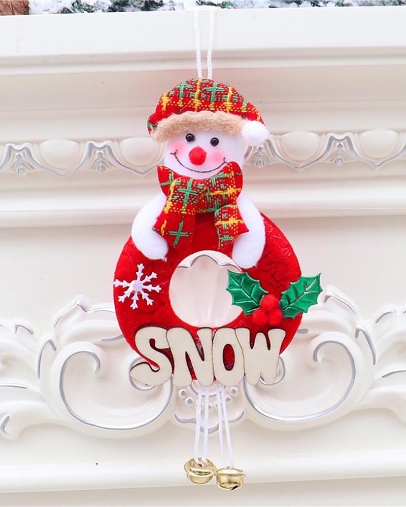 Christmas Jingle Bells Santa Claus Door Wall Letter Pendant Tree Ornaments Hanging Festival Supplies Decor