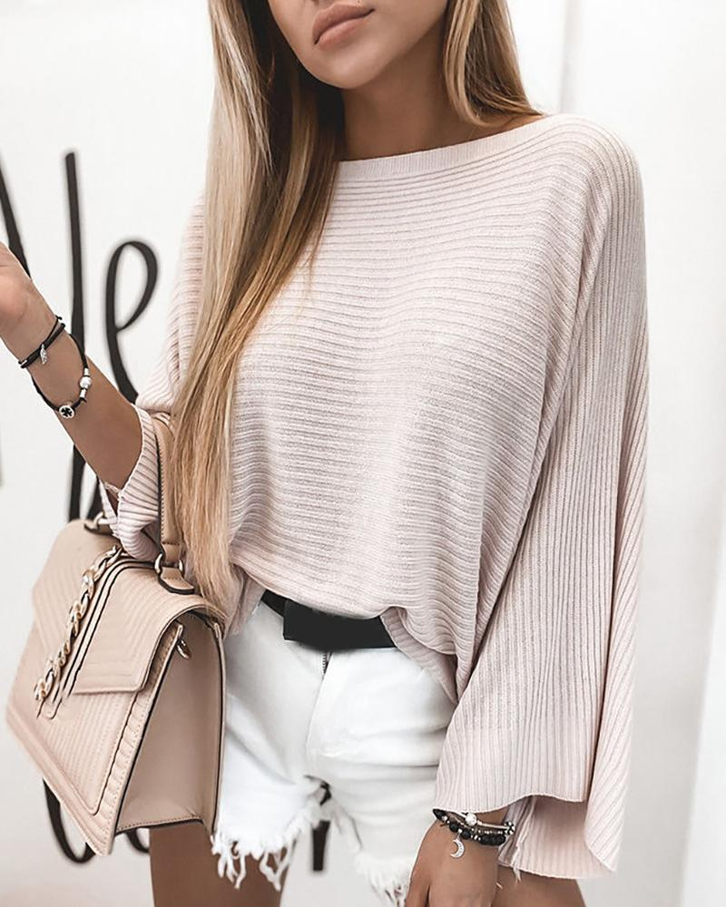 ChicMe coupon: Batwing Sleeve Casual Loose Sweater