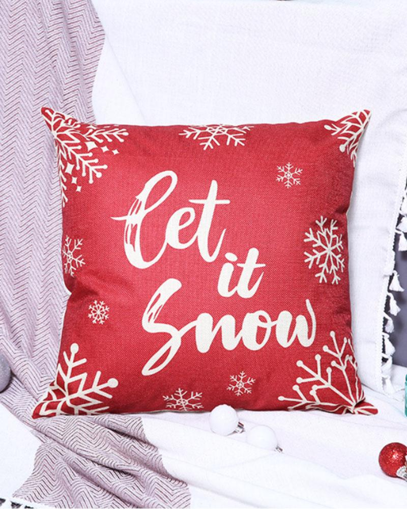 Christmas Pillow Cover Square 18inch Farmhouse Pillow Covers Holiday Pillow Case For Sofa Couch Christmas Decorations Throw Pillow Covers