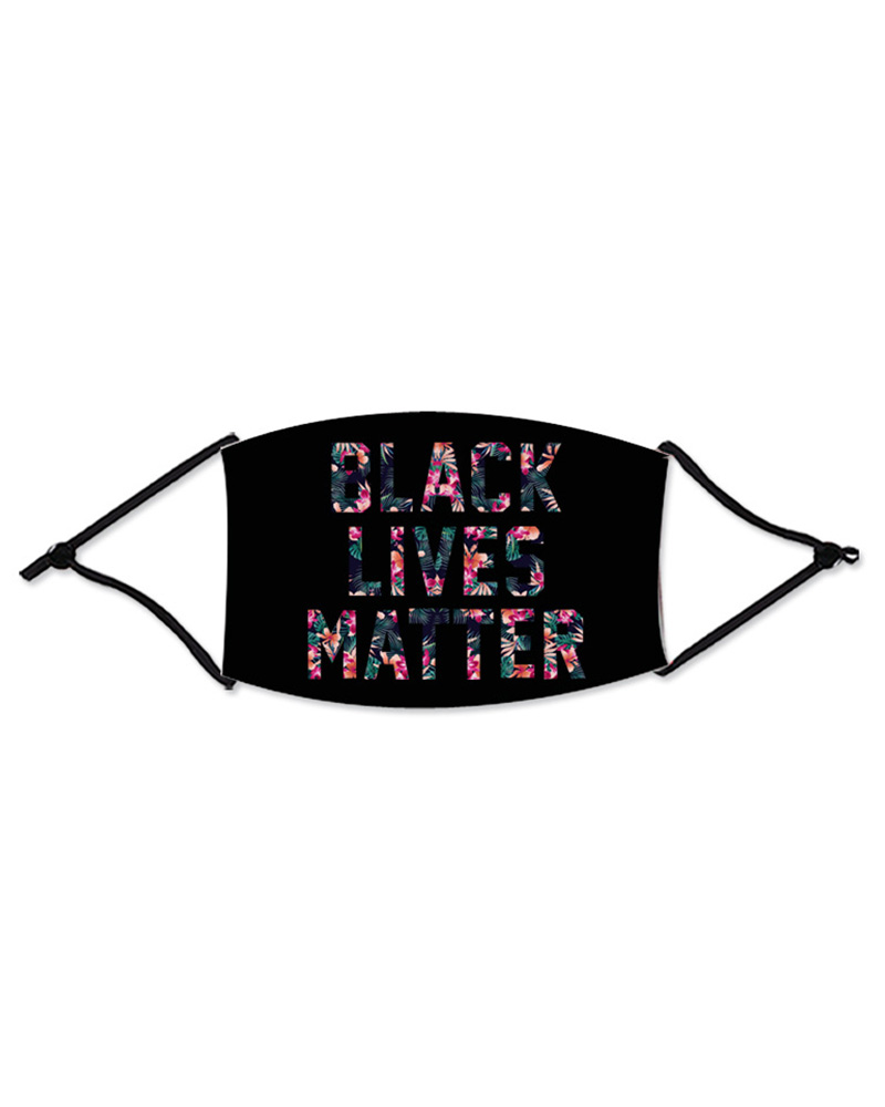 Letter Slogan Print Colorblock Breathable Mouth Mask