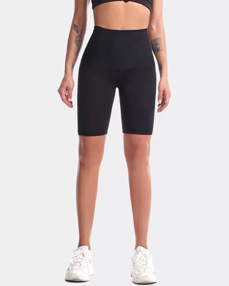 Skinny High Waist Yoga Short Pants