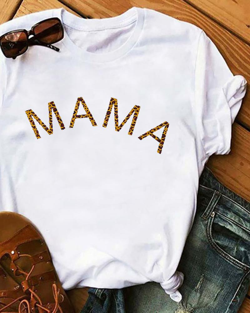 Mother's Day Letter Print Casual T-Shirt thumbnail