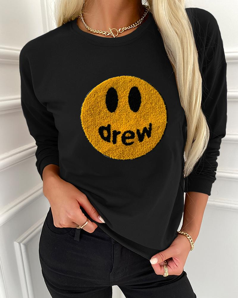 Smile Face Long Sleeve T-shirts