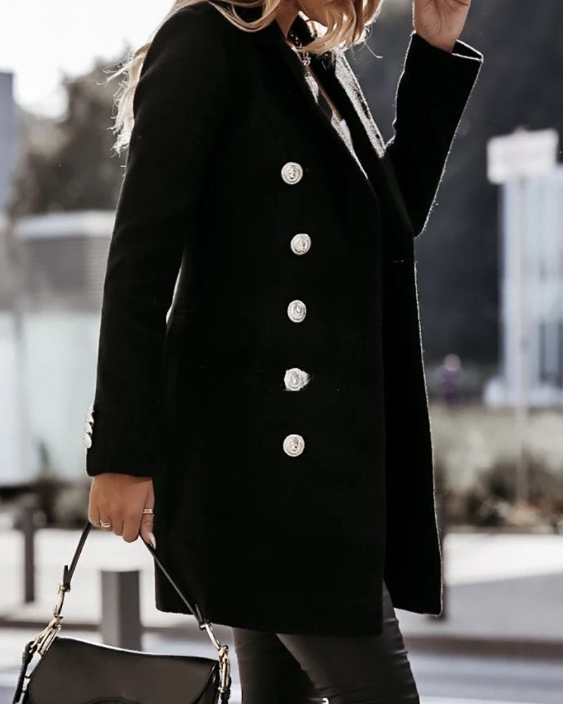 Long Sleeve Double Breasted Trench Coat