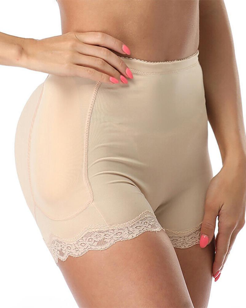 Lace Trim Buttocks Lifter Shapewear Panties Padded Butt Shapers Underwear thumbnail