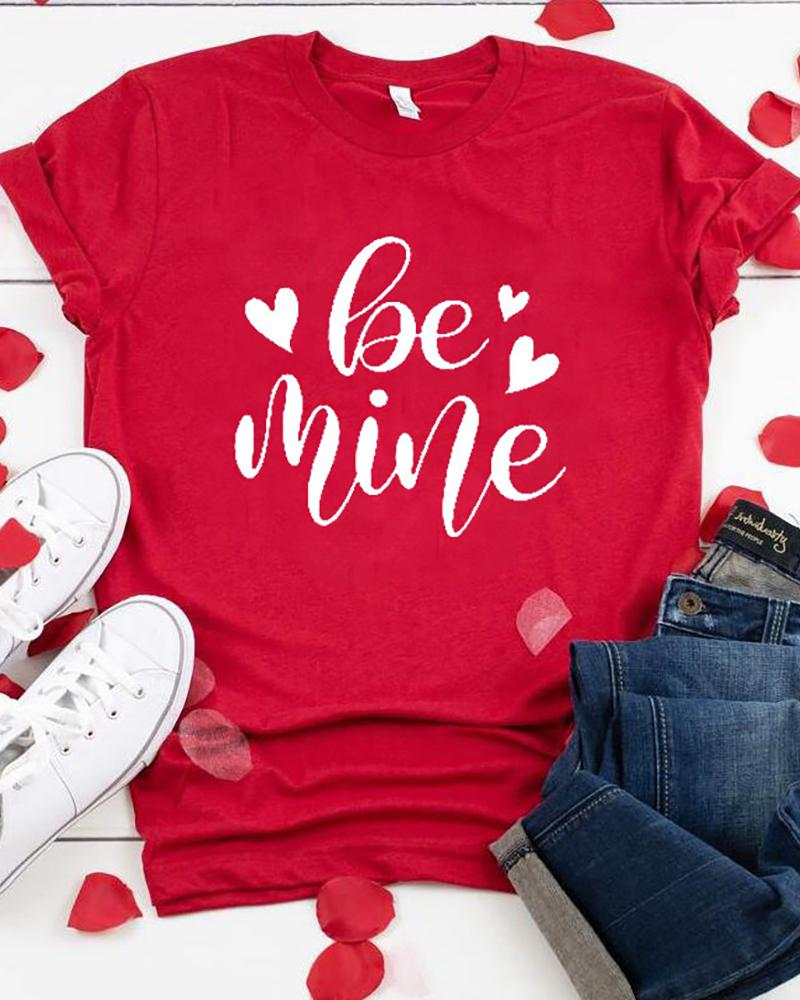 Valentines Day Letter Heart Print T-shirt thumbnail