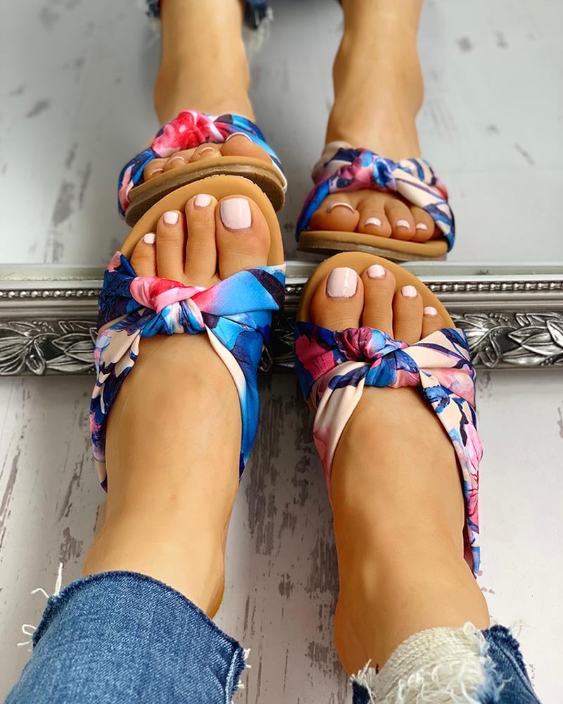 Satin Twisted Design Sandals