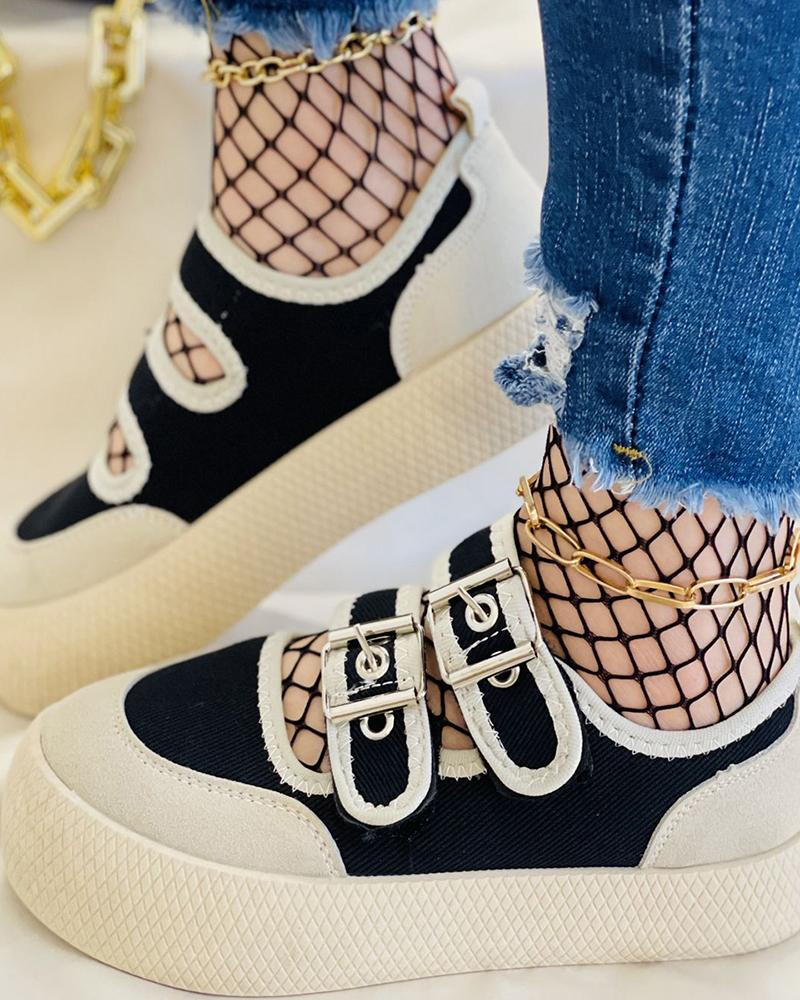 Eyelet Buckled Colorblock Muffin Sneaker thumbnail
