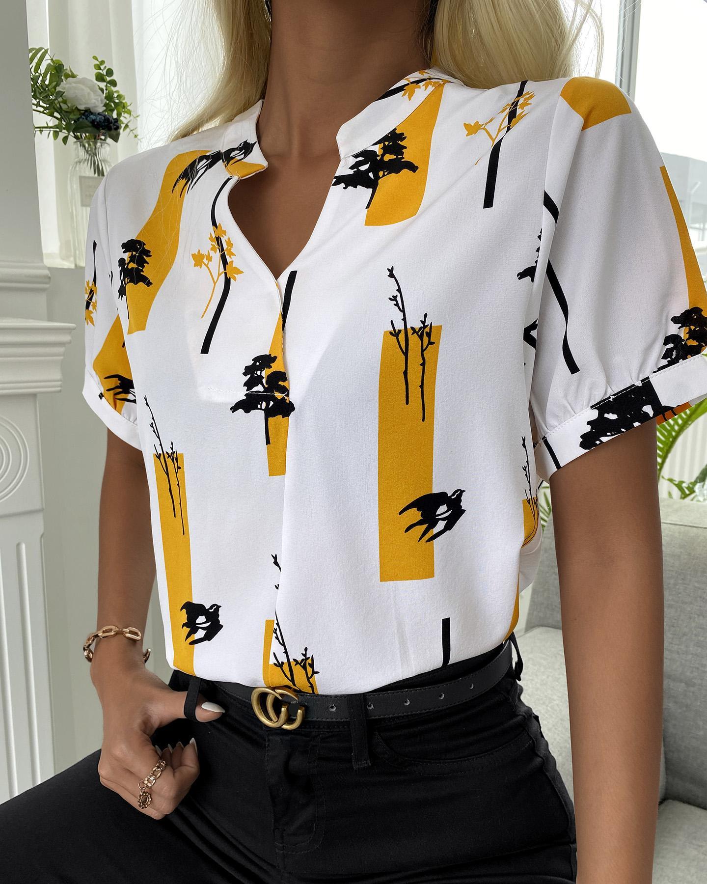 Colorblock Short Sleeve Casual Shirt thumbnail